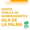 Las sustituciones en la isla de La Palma se cubrirán por oferta pública vía Web